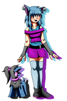 A zubat and her deino by MetaDoodles