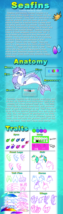 Official Seafins Species Guide by Jahpan