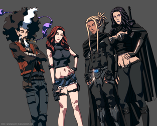 The Gang's All Here by GrungeWerXshop