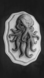 Cthulhu sculpture by asconch