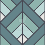 Geometric Pattern: Art Deco Diamond: Seafoam