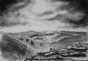 Malham Cove Sketch by aartvark