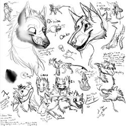 Some canine doodles by FeatherAmbara