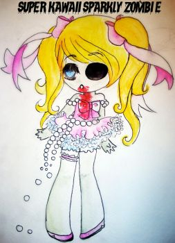 Sparkly Chibi Zombie by TheLoneTaco