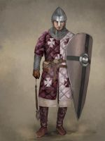 Acre German Man-at-Arms by JLazarusEB