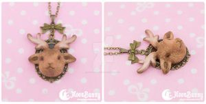 Forest spirit Necklace by CuteMoonbunny