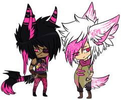 Pink Boys - Adopts - CLOSED by KingConniption