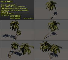 Free palm treeZ v3 by Yughues