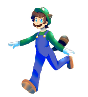 Raccoon Luigi by Millenium-Lint