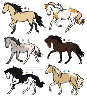 Horse Adopts 5 [2/6 OPEN] by RibbonWren-Adopts