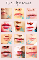 EXO Lips Icons by The-Rmickey