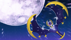 lunala wallpaper 2 by Elsdrake