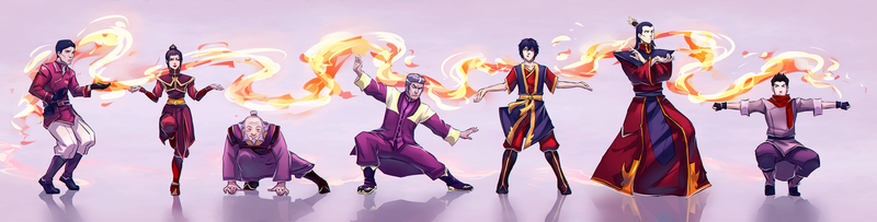 Firebenders: Dancing Dragon by moni158