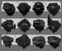 Titan (Behemoth) Head Thumbnails by ScottFlanders