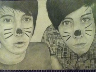 Danisnotonfire and AmazingPhil by KayleniaArt