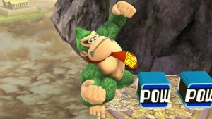 Green Donkey Kong loves POW Blocks by BenorianHardback26