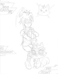 Cass and Scoot (Sketch) by PiplupSTARSCommander