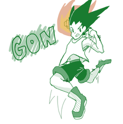 Gon Punch by JazCooper