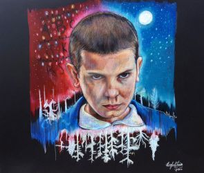 Stranger Things Eleven by OMKDrawings