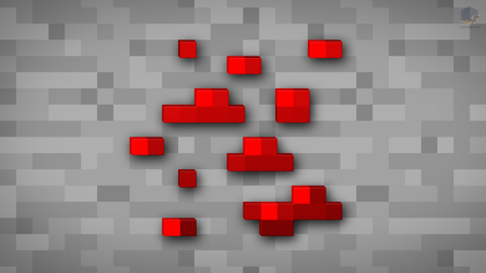 MineCraft Shaded Redstone Ore Wallpaper by ChrisL21