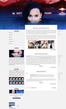Free G-Portal fansite theme with Katy Perry by Efruse