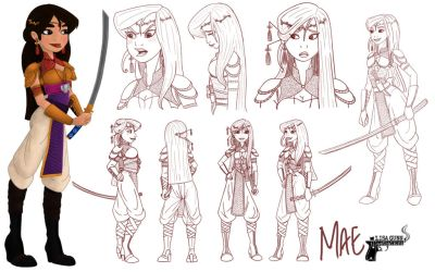 Mae ~ Contest 48 - Princess Design Sheet Challenge by LisaGunnIllustration