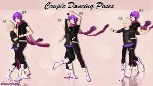 MMD Download {Couple Dancing Poses} by Devikl
