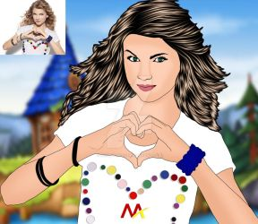 Taylor swift  cartoon photo by mirzaatik62