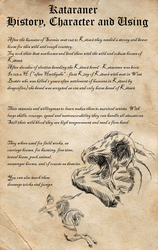 Kataraner - History, Character and Using by LiaLithiumTM