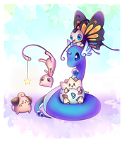 Pokemon Team (+SPEEDPAINT) by 3Paula3