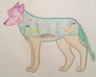 Fish tank doge (collab with little cousin) by TheSecondRachel