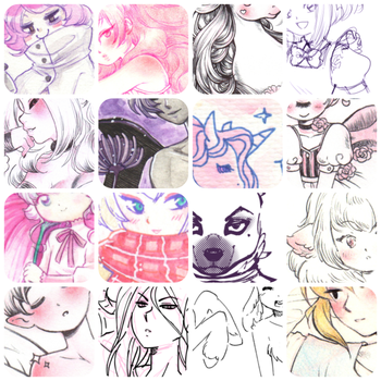 Patreon sketches March by zambicandy