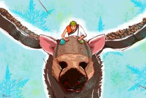 Jacksepticeye and Trico by eumacask