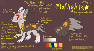 Species Design Challenge: Moflights aka.'Mofts' by Lokibuns