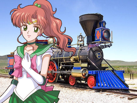 Sailor Jupiter and the Central Pacific's Jupiter by Pikachu-Train