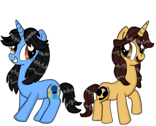 Carla y Elsa (pony version) by Dulcechica19