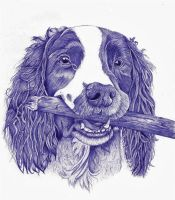 Dog ballpoint pen 4 by DrawingNynke