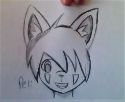 New furry style head model sketch by PerseidGalaxy