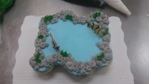 12ct cupcake pond with fish by AuraLeighDragon