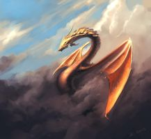 Dragon-speedpaint by JamesCombridge
