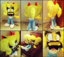 *SOLD* Cortex as Coco Plush Doll by Sarasaland-Dragon