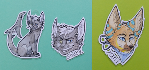 Shark and Yani | Badges by Foxface-x3