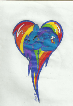 Drawing-scan-rainbow. by Tracy4angel