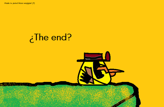 My last caca-drawing of Angry Birds: The End? by DrRevolutionary