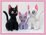 Cats of Sailor Moon::::: by Witchiko