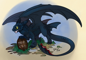 Toothles - HTTYD by SilverdragonKathy