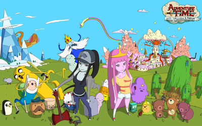 Adventure Time with Marceline and Bubblegum by CarlosMaupoeySorolla
