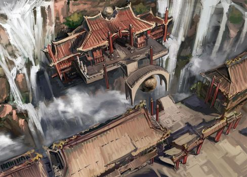 Floating Bridge sketch by AnDary