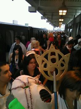 Cosplay invades train stop by arianaglori