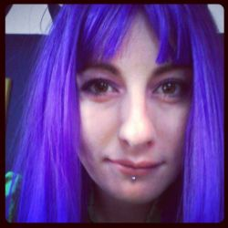 Purple wig by JaydedPixie